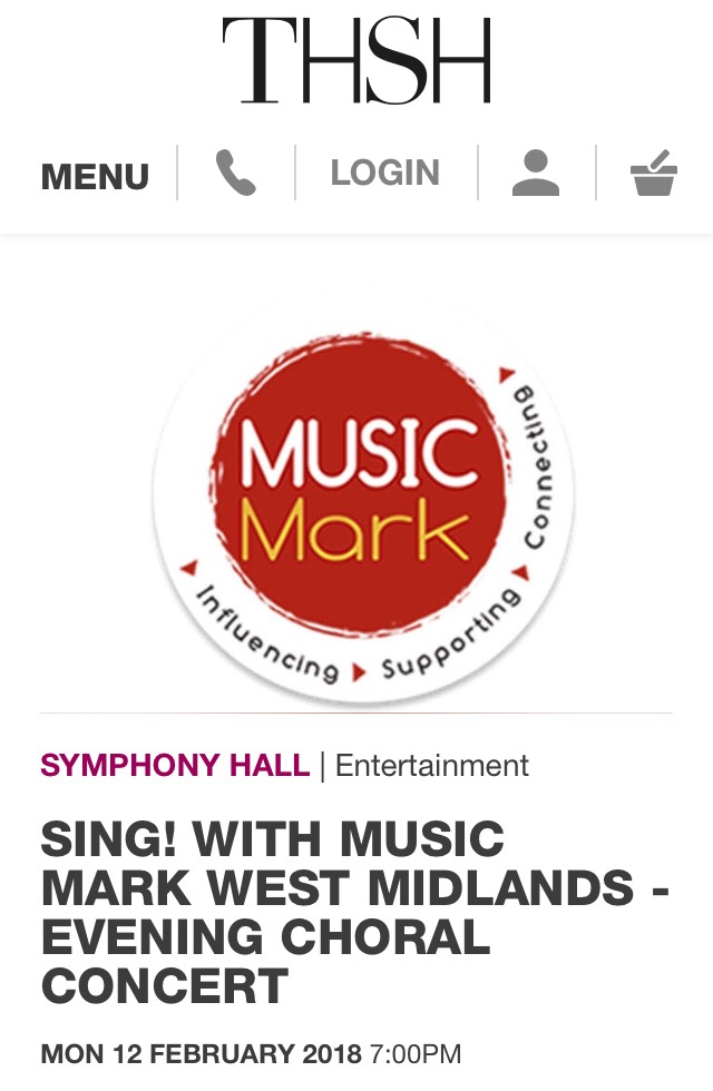 Sing with Music Mark West Midlands - Symphony Hall